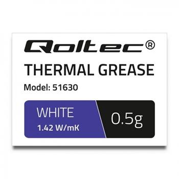 QOLTEC 51630 Qoltec Thermal paste 1.42 W/m-K 0.5g White