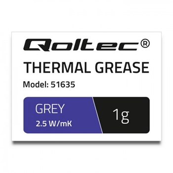 QOLTEC 51635 Qoltec Thermal paste 2.5 W/m-K 1g grey