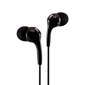V7 Auricolari stereo, leggeri, isolamento acustico intrauricolare, 3,5 mm, nero