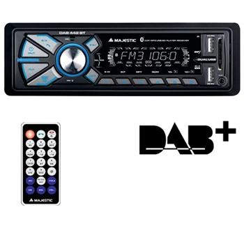 Majestic Autoradio Mechless SD-442 DAB+ BT/RDS/2xUSB/AUX Nero