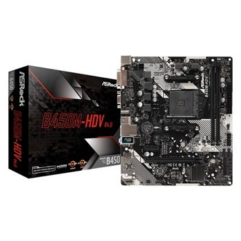 ASROCK B450M-HDV R4.0 AM4 Socket