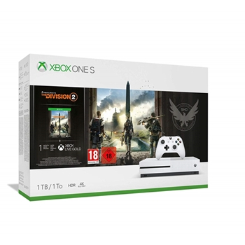 Microsoft Xbox One S + Tom Clancy's The Division 2 Bianco 1000 GB Wi-Fi