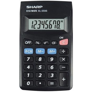Sharp EL-233S calcolatrice Tasca Calcolatrice di base Nero