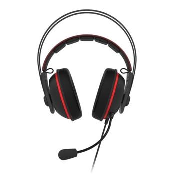 ASUS TUF Gaming H7 Cuffia Padiglione auricolare Nero, Rosso