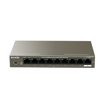 Tenda TEF1109P-8-102W switch di rete Fast Ethernet (10/100) Supporto Power over Ethernet (PoE) Metallico