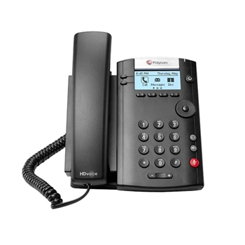 Polycom VVX 201 telefono IP Nero Cornetta cablata LCD 2 linee