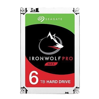 SEAGATE Ironwolf PRO Enterprise NAS HDD 6TB 7200rpm 6Gb/s SATA 256MB cache 8.9cm 3.5inch 24x7 for NAS und RAID Rackmount systems BLK