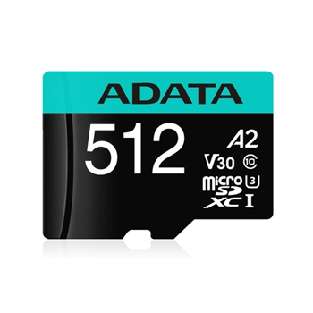 ADATA 512GB Micro SDXC UHS-I U3 V30S A2 + Adapter