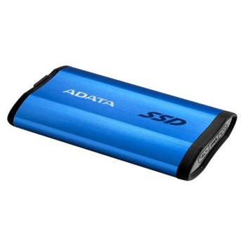 ADATA external SSD SE800 512GB blue USB3.2 Gen2 Type-C backward compatible with USB2.0