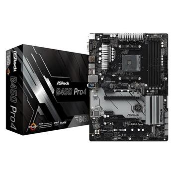 ASROCK B450 Pro4 Supports AMD AM4 Socket Ryzen 2000 3000 5000 Series DDR4 3200+
