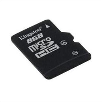 KINGSTON 8GB MICROSDHC CLASS 4 FLASH CAR D SINGLE PACK W/O ADAPTER