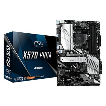 ASROCK X570 Pro4 AM4 DDR4 8xSATA 2xM.2 ATX MB