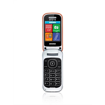 "Brondi Stone 6,1 cm (2.4"") 86 g Arancione Telefono cellulare basico"