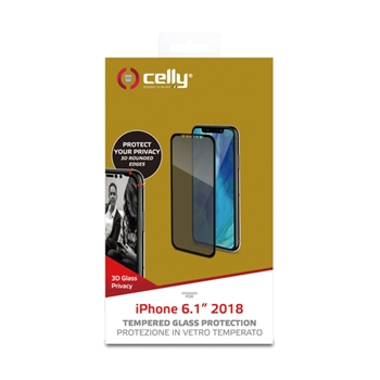 CELLY PRIVACY 3D IPHONE XR BLACK