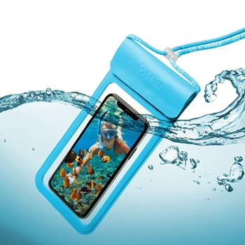 """Celly SPLASHBAG19LB custodia per cellulare 16,5 cm (6.5"""") Cover a guscio Blu"""