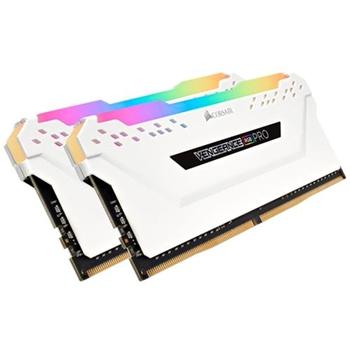 CORSAIR 16GB RAMKit 2x8GB DDR4 3200MHz 2x288DIMM Unbuffered 16-18-18-36 Vengeance RGB Pro White Heat Spreader RGB LED 1.35V XMP2.0