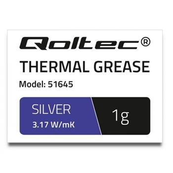 Qoltec 51645 compontente del dissipatore di calore 3,17 W/m·K 1 g