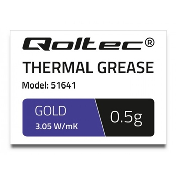 QOLTEC 51641 Qoltec Thermal paste 3.05 W/m-K 0,5g gold