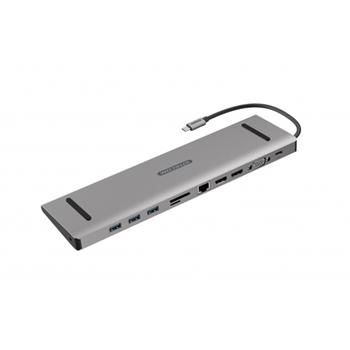 Sitecom CN-389 replicatore di porte e docking station per notebook Cablato USB 3.1 (3.1 Gen 2) Type-C Alluminio