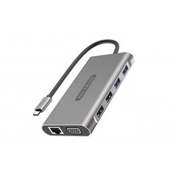 Sitecom CN-390 hub di interfaccia USB 3.1 (3.1 Gen 2) Type-C 5000 Mbit/s Alluminio