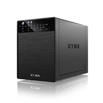 ICYBOX IB-RD3640SU3 External IcyBox 4x 3,5 USB 3.0, eSATA Host, RAID 0, 1, 3, 5, 10, Black