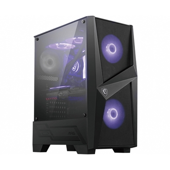 MSI MAG FORGE 100R Mid Tower PC case Black 2xARGB Front Fan 1xRear Fan