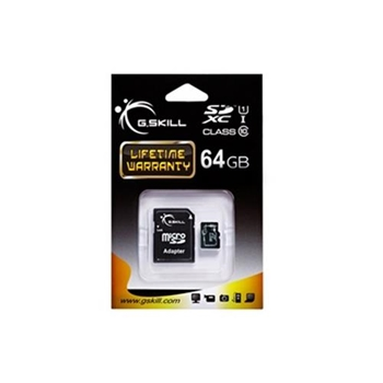G.SKILL memory card Micro SDXC 64GB Class 10 UHS-1 + adapter