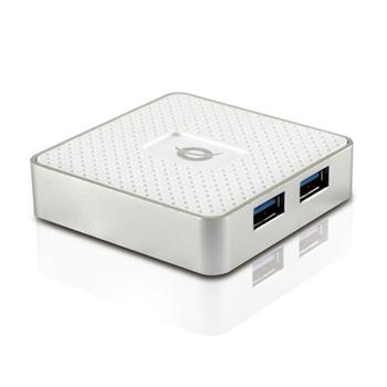 Conceptronic HUBBIES03W USB 3.2 Gen 1 (3.1 Gen 1) Type-A 5000 Mbit/s Bianco