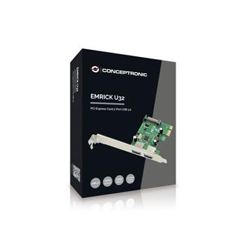 Conceptronic EMRICK01G scheda di interfaccia e adattatore USB 3.2 Gen 1 (3.1 Gen 1) Interno