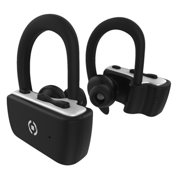 Celly BHSPORTTWS Cuffia Aggancio Micro-USB Bluetooth Nero