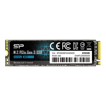 SILICON POWER SSD P34A60 256GB M.2 PCIe Gen3 x4 NVMe 2200/1600 MB/s