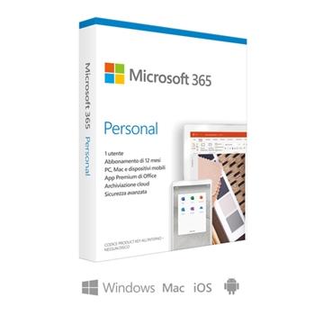 Microsoft 365 Personal, 1 Persona, 1 Anno, Scatola