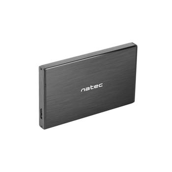 NATEC NKZ-0941 Natec HDD/SSD external enclosure RHINO GO for 2.5 SATA - USB 3.0, Aluminum