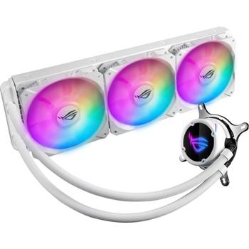 ASUS ROG STRIX LC 360 RGB White Edition liquid CPU cooler with Aura Sync RGB and ASUS ROG 120mm ARGB radiator fan