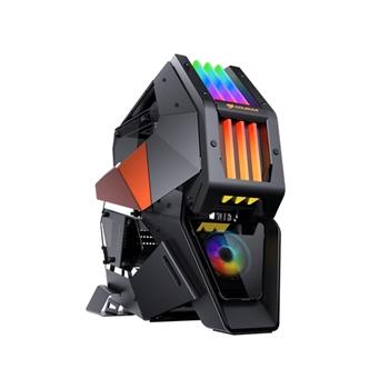 COUGAR Gaming Conquer 2 Full Tower Nero, Arancione