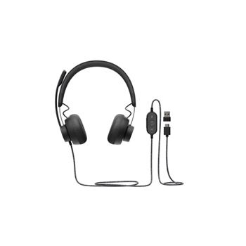 Headset Logitech Zone Wired (981-000870)