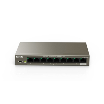Tenda TEF1109TP-8-102W switch di rete Fast Ethernet (10/100) Supporto Power over Ethernet (PoE) Nero