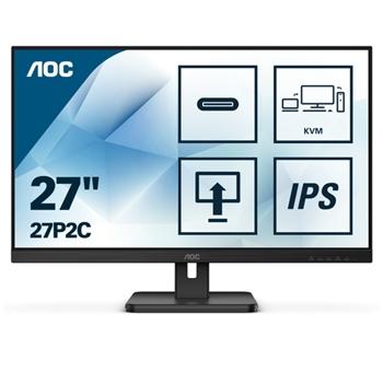 AOC 27P2C 27inch 1920x1080 IPS Flat H/A 150 MM Pivot USB-C DISPLAY 4ms GtG 75 Hz Adaptive-Sync 3 SIDE FRAMELESS USB HUB SPEAKERS