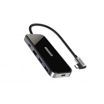 Sitecom CN-408 hub di interfaccia USB 3.2 Gen 1 (3.1 Gen 1) Type-C 5000 Mbit/s Alluminio, Nero