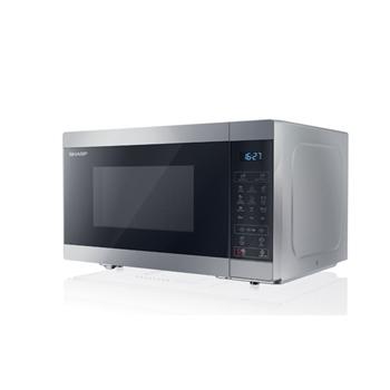 Sharp YC-MG81E-S forno a microonde Superficie piana Microonde con grill 28 L 900 W Nero, Grigio