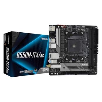 ASROCK B550M-ITX/ac AM4 Socket DDR4 4733+ 4.0 x16 PCIe DisplayPort 1.4 HDMI 7.1 CH HD 4 SATA3 6 USB 3.1 Gen1 mITX MB