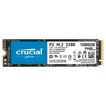 SSD Crucial 1TB P2 CT1000P2SSD8 PCIe M.2 NVME