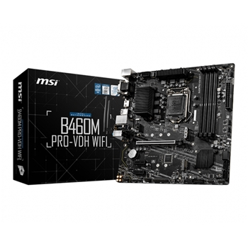 MSI B460M PRO-VDH WIFI Socket 10th gen Intel 1200 mATX MB 4x DDR4 up to 2933 MHz 4x SATA 6Gb/s 2x M.2 6x USB 3.2