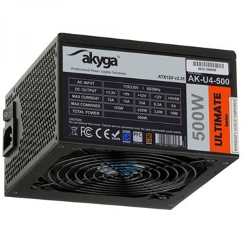 Akyga AK-U4-500 alimentatore per computer 500 W 20+4 pin ATX ATX Nero