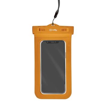 """Celly Procompact custodia per cellulare 16,5 cm (6.5"""") Custodia a sacchetto Arancione"""