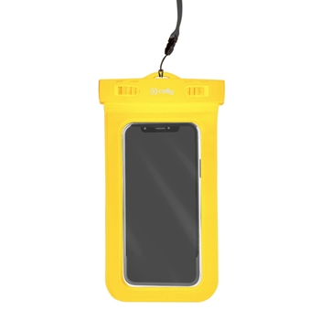 """Celly Procompact custodia per cellulare 16,5 cm (6.5"""") Custodia a sacchetto Giallo"""