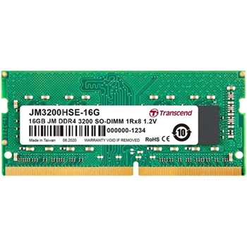 TRANSCEND JetRam 16GB DDR4 3200Mhz SO-DIMM 1Rx8 2Gx8 CL22 1.2V