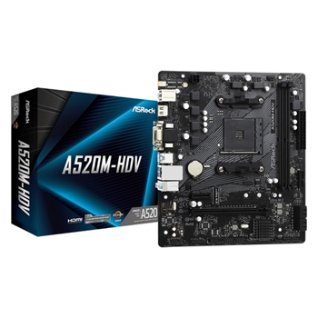 Asrock A520M-HDV Presa AM4 micro ATX