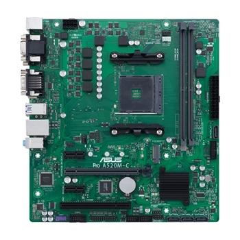 ASUS Pro A520M-C/CSM AMD A520 Presa AM4 micro ATX
