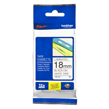 BROTHER P-Touch TZE-241 black on white 18mm each
